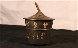 建水紫陶茶罐 陶茶居帽茶罐茶仓茶贮