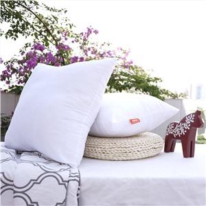 白色印花抱枕芯经济版