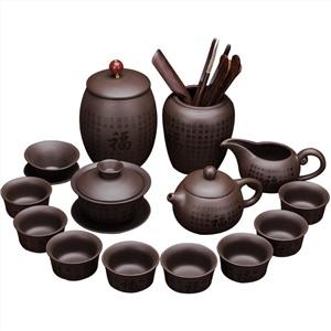 手工紫砂茶具套装百福西施壶全套14头礼盒装